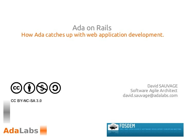 Ada on Rails     How Ada catches up with web application development.                                                     ...
