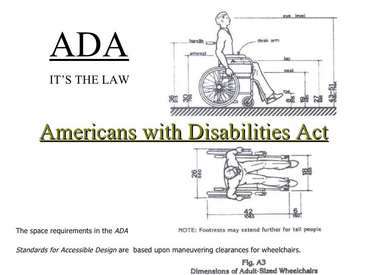 Merveilleux Americans With Disabilities Act U003culu003eu003cliu003eThe Space Requirements In The ADA  ...