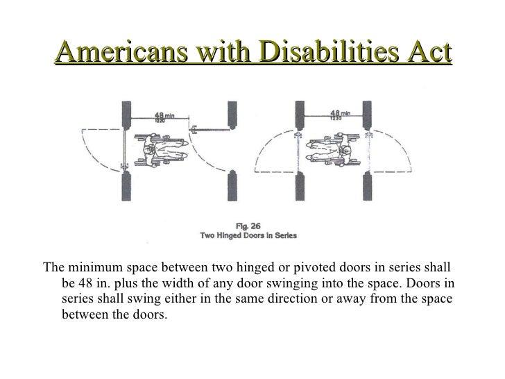 Ada dimensions fall 2009 for Handicap hallway width