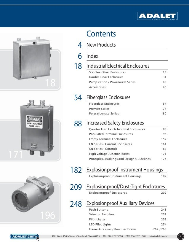 Contents 4 6 18  New Products Index Industrial Electrical Enclosures Stainless Steel Enclosures Double Door Enclosures  43...