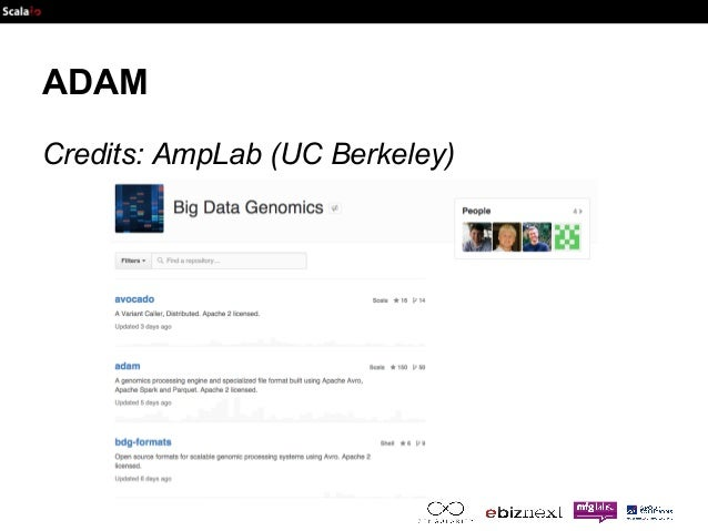ADAM  Credits: AmpLab (UC Berkeley)