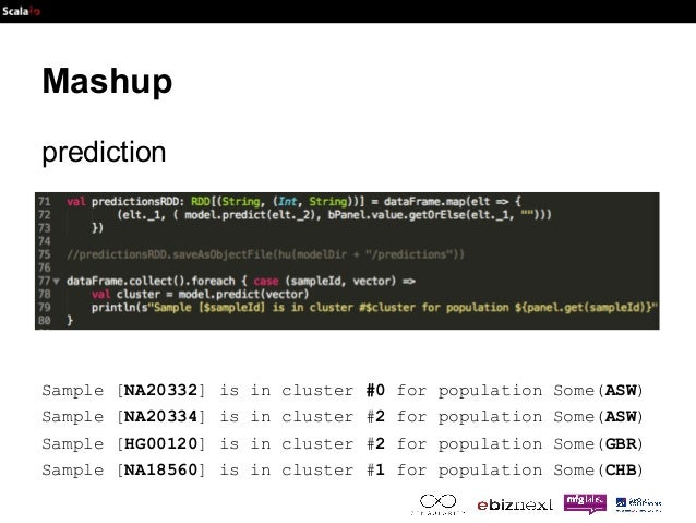 Mashup  prediction  Sample [NA20332] is in cluster #0 for population Some(ASW)  Sample [NA20334] is in cluster #2 for popu...