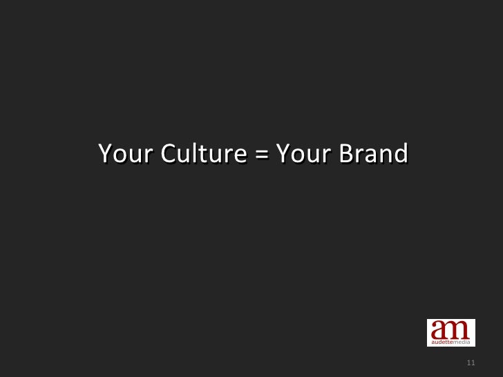 Your Culture = Your Brand
