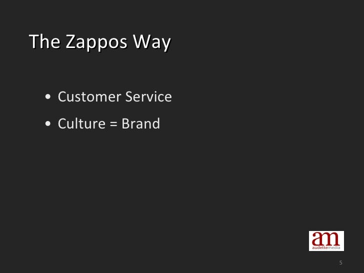 The Zappos Way <ul><li>Customer Service </li></ul><ul><li>Culture = Brand </li></ul>