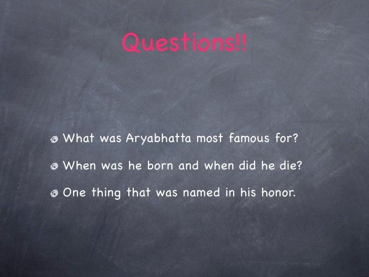 where did aryabhatta die