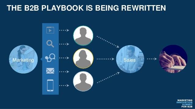 THE B2B PLAYBOOK IS BEING REWRITTEN Marketing Sales