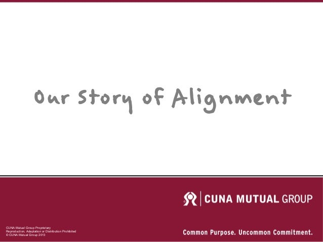 CUNA Mutual Group Proprietary Reproduction, Adaptation or Distribution Prohibited © CUNA Mutual Group 2013 Our Story of Al...