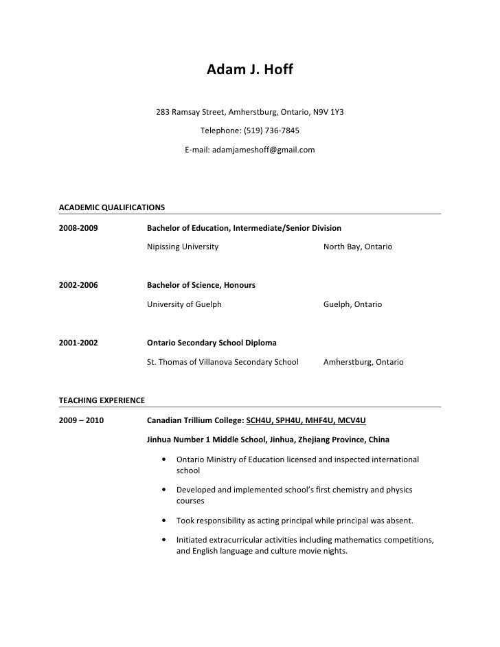 adam hoff resume
