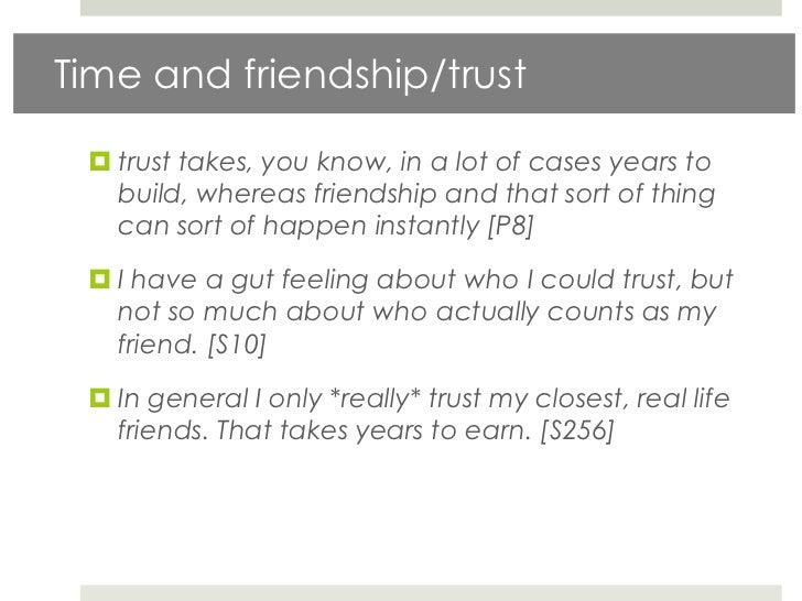 To Friend And To Trust
