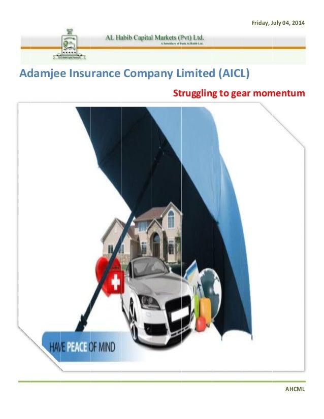 Adamjee Insurance Company Limited Struggling To Gear Momentum