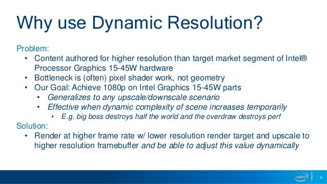 Dynamic Resolution Techniques for Intel® Processor Graphics