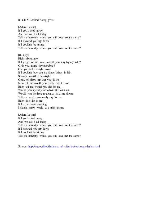 locked away lyrics