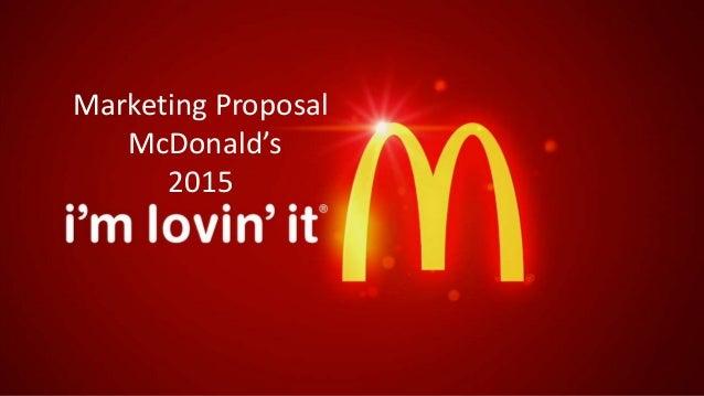 Marketing Proposal McDonald's 2015