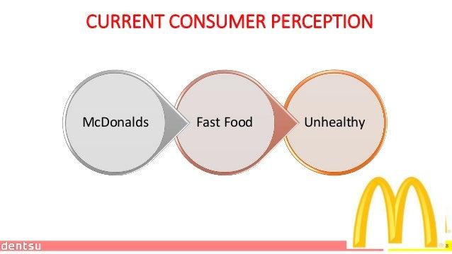 18 CURRENT CONSUMER PERCEPTION UnhealthyFast FoodMcDonalds