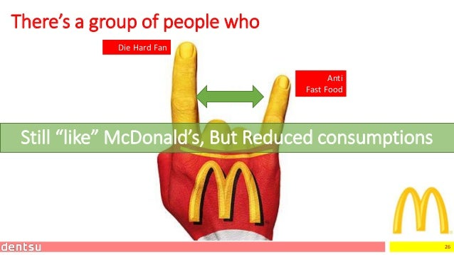 """26 There's a group of people who Die Hard Fan Still """"like"""" McDonald's, But Reduced consumptions Anti Fast Food"""