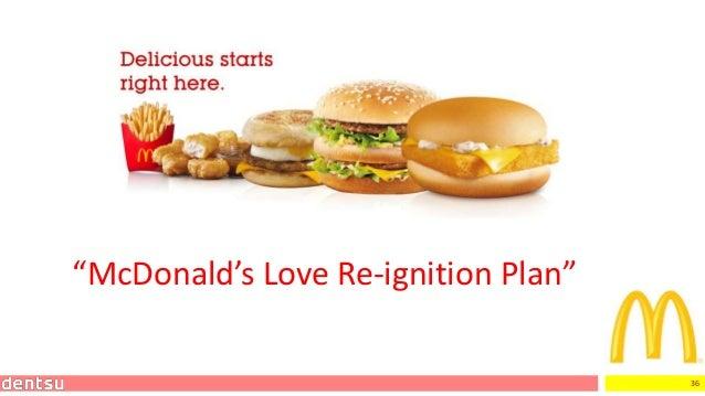 "36 ""McDonald's Love Re-ignition Plan"""