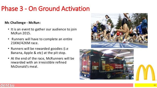 52 Mc Challenge - McRun: Phase 3 - On Ground Activation • It is an event to gather our audience to join McRun 2015. • Runn...