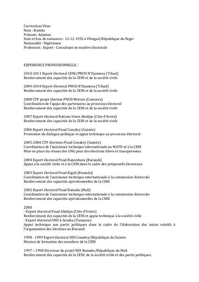 Curriculum  Vitae   Nom  :  Kombo   Prénom:  Adamou   Date  et  lieu  de  naissance  :  12-‐12-...