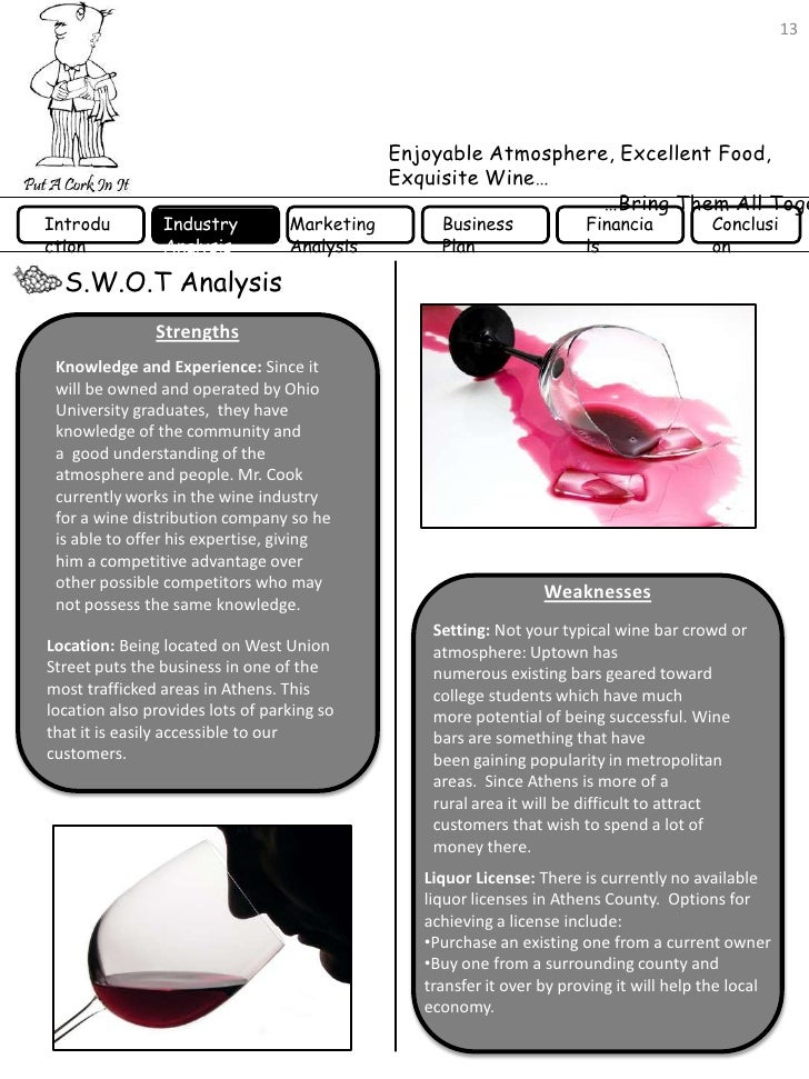 wines spirits business plan