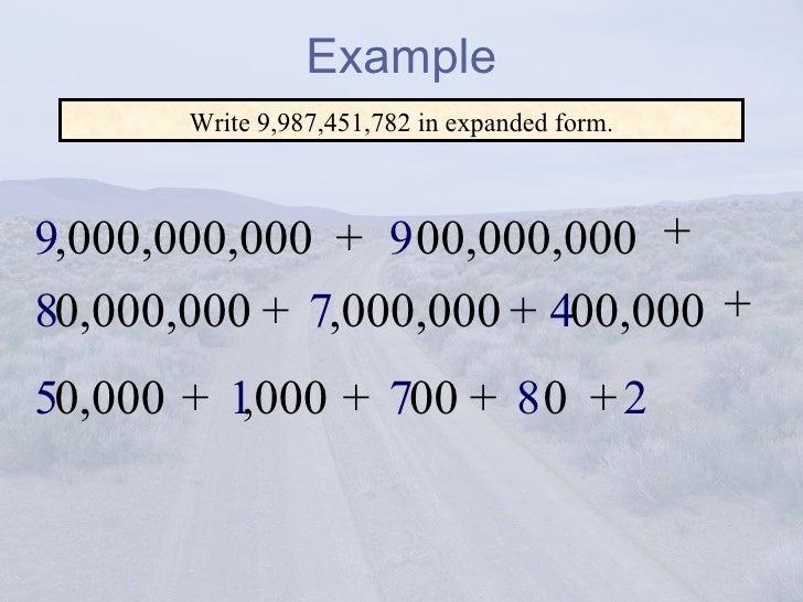 Adams Whole Numbers