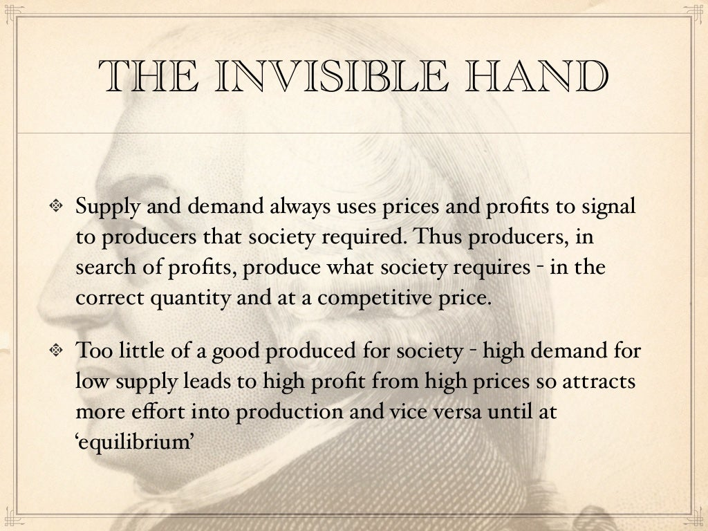 THE INVISIBLE HAND Supply and