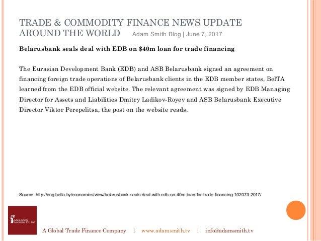 Adam Smith Associates Trade Finance News