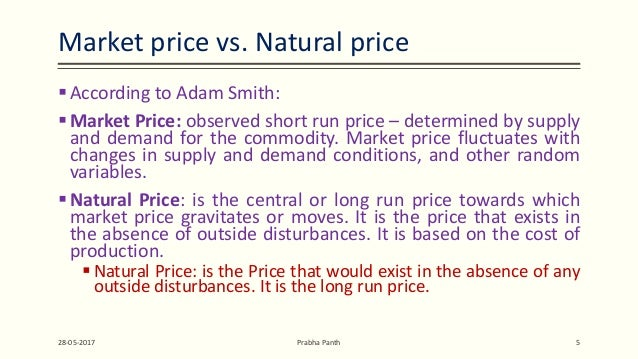 Natural Vs Market Price Smith
