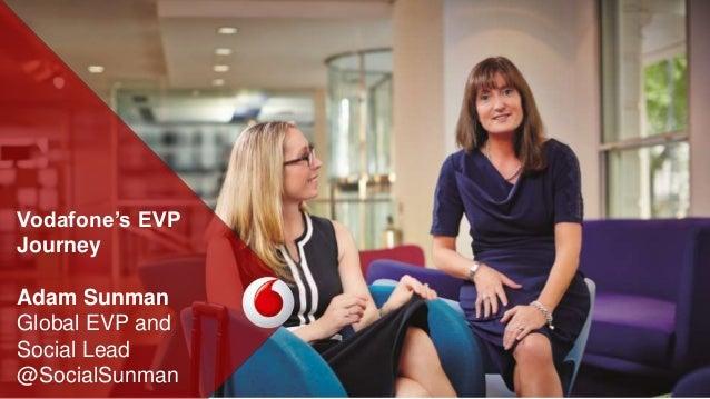 Vodafone's EVP Journey Adam Sunman Global EVP and Social Lead @SocialSunman