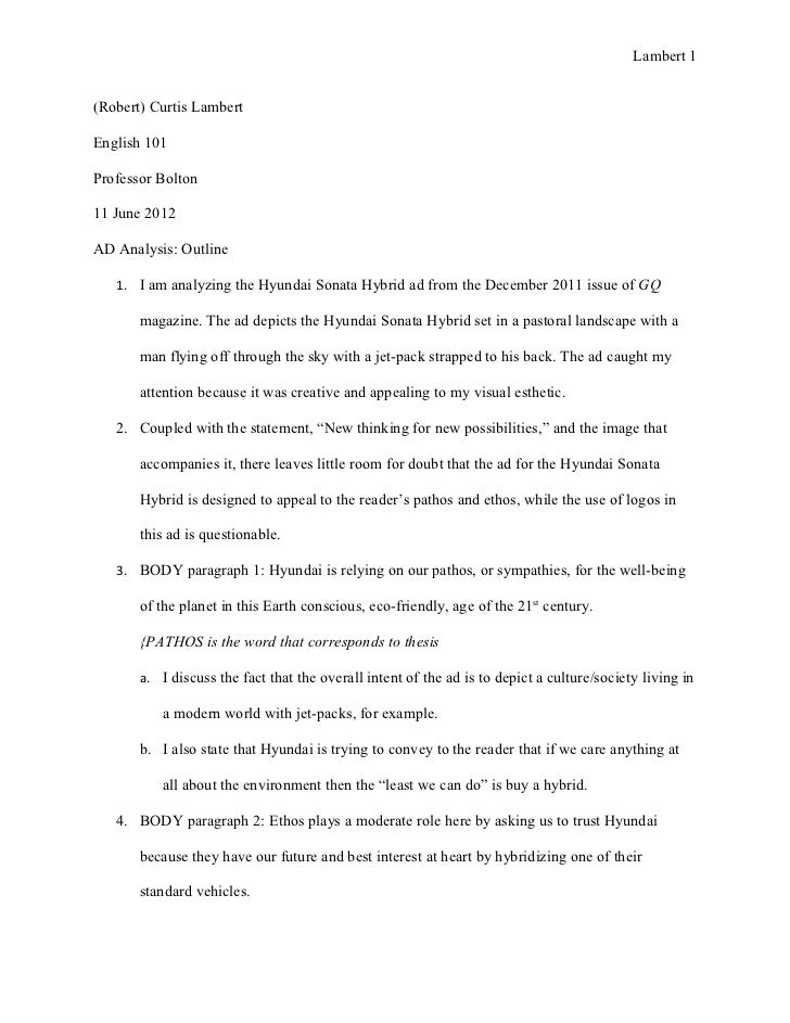 Essay Critical Analysis Outline Example How To Write Critique Template