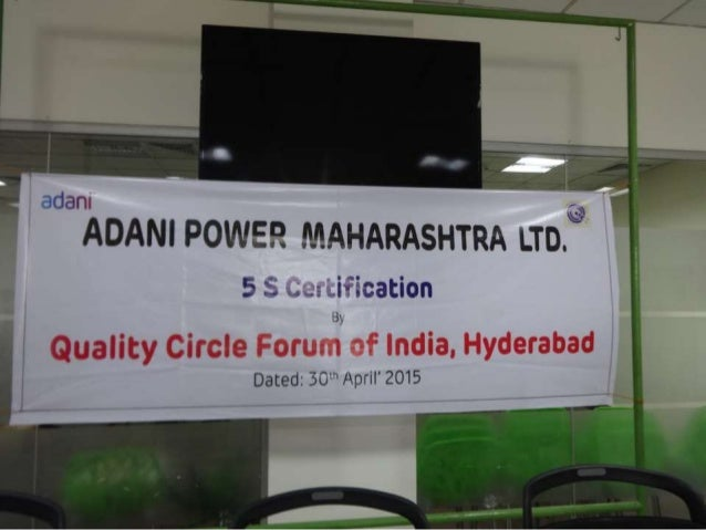 adant  ADANI POWER MAHARASHTRA LTD. @  5 :3 v. .'-.5 . .iv'Ecati0n  Quality Circle Forum of India,  Hyderabad  Dated:  30'...