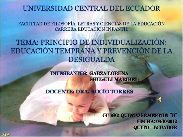 UNIVERSIDAD CENTRAL DEL ECUADOR FACULTAD DE FILOSOFÍA, LETRAS Y CIENCIAS DE LA EDUCACIÓN               CARRERA EDUCACIÓN I...