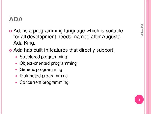 ADA programming language