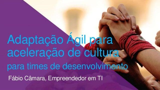 Fábio Câmara, Empreendedor em TI Adaptação Ágil para aceleração de cultura para times de desenvolvimento