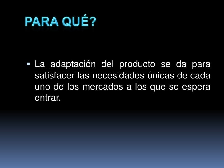 adaptaci n del producto1