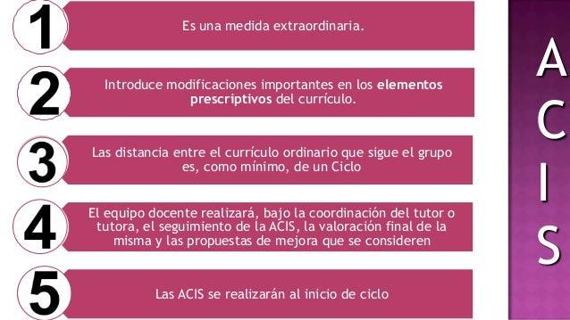 •Tendrá en cuenta su progresión en la ACIS requerida.•Los resultados de la evaluación de las áreas del currículo común no ...