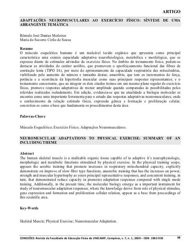 ARTIGOADAPTAÇÕES NEUROMUSCULARES AO EXERCÍCIO FÍSICO: SÍNTESE DE UMAABRANGENTE TEMÁTICARômulo José Dantas MedeirosMaria do...