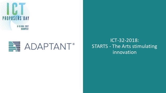 ICT-32-2018: STARTS - The Arts stimulating innovation