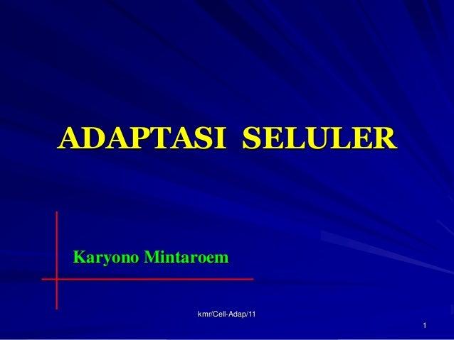 ADAPTASI SELULERKaryono Mintaroem             kmr/Cell-Adap/11                                1