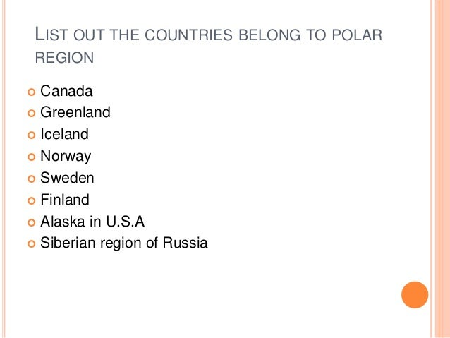 How does adaptation occur in the Polar-region?