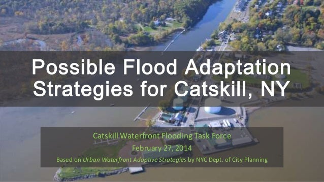 Possible Flood Adaptation Strategies for Catskill, NY Catskill Waterfront Flooding Task Force February 27, 2014 Based on U...