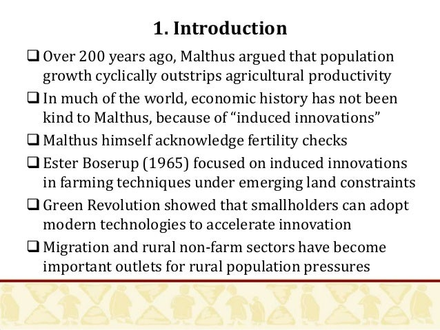 an introduction to malthus and africa Explain thomas malthus' theory concerning population growth, and what are the major questions in this regard facing the world today.