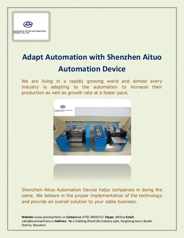 Adapt Automation With Shenzhen Aituo Automation Device