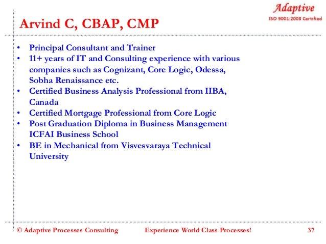 Adaptive business analysis skill enhancement program v6.0 slideshare