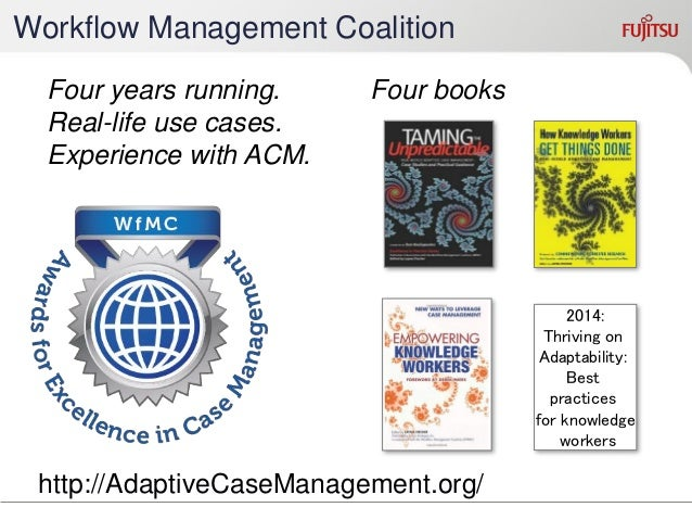 Workshop on Adaptive Case Management and other non- workflow approaches to BPM  2012 – Talinn Estonia, with BPM 2012  2...