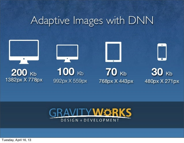 Adaptive Images with DNN      200 Kb             100 Kb           70 Kb           30 Kb  1382px X 778px        992px X 559...