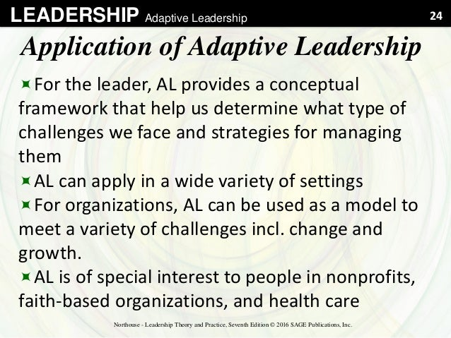 adaptive leadership essay In the practice of adaptive leadership, heifetz, grashow, and linsky define adaptive leadership as the practice of mobilizing people to not only survive difficult challenges but thrive.