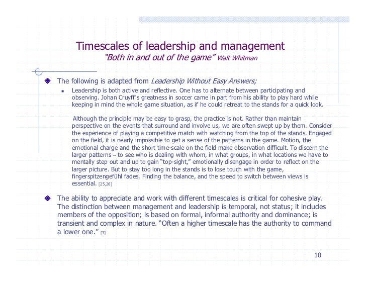 Command leadership and management