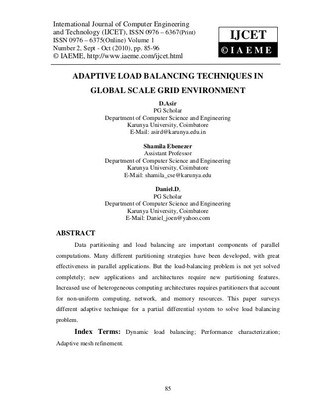 International JournalVolume 1, Number Engineering(IJCET), ISSN 0976 – 6367(Print), International Journal of Computer Engin...