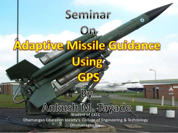 Adaptive Missile Guidance                   Using                    GPS                                          Student ...