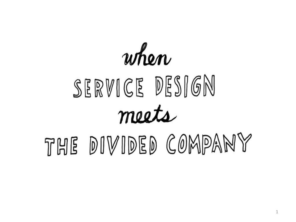 When service design meets the connected company